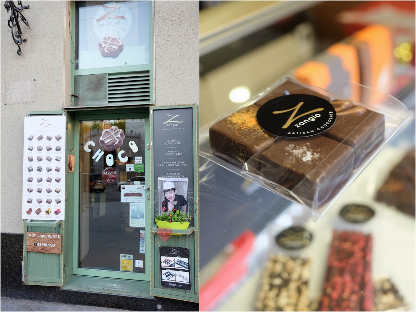 zangio chocolates @ budapest, hungary