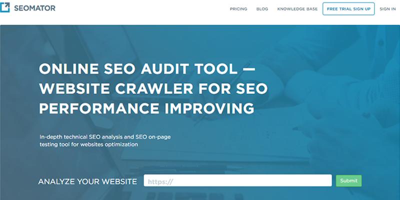 SEOmator is a powerful SEO audit tool