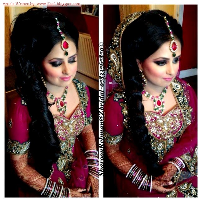 pakistani bridal hairstyles 20142015 for walima party and