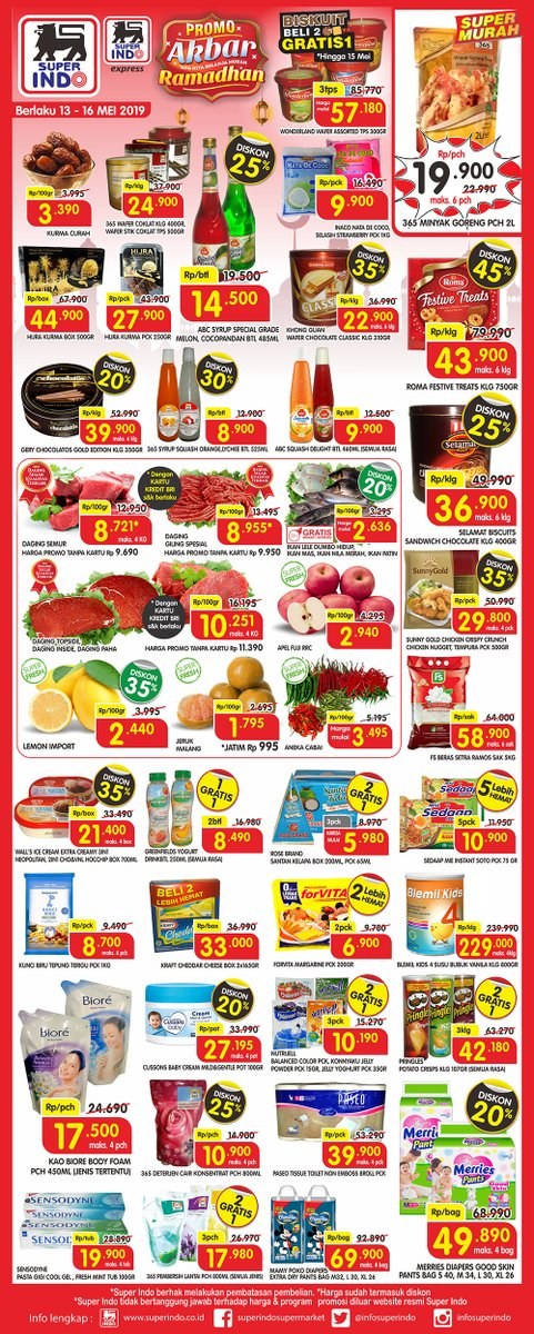 #Superindo - #Promo Katalog Akbar Ramadhan Periode 13 - 16 Mei 2019