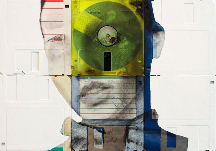 Nick Gentry 1980 | Floppy disk abstract paintings
