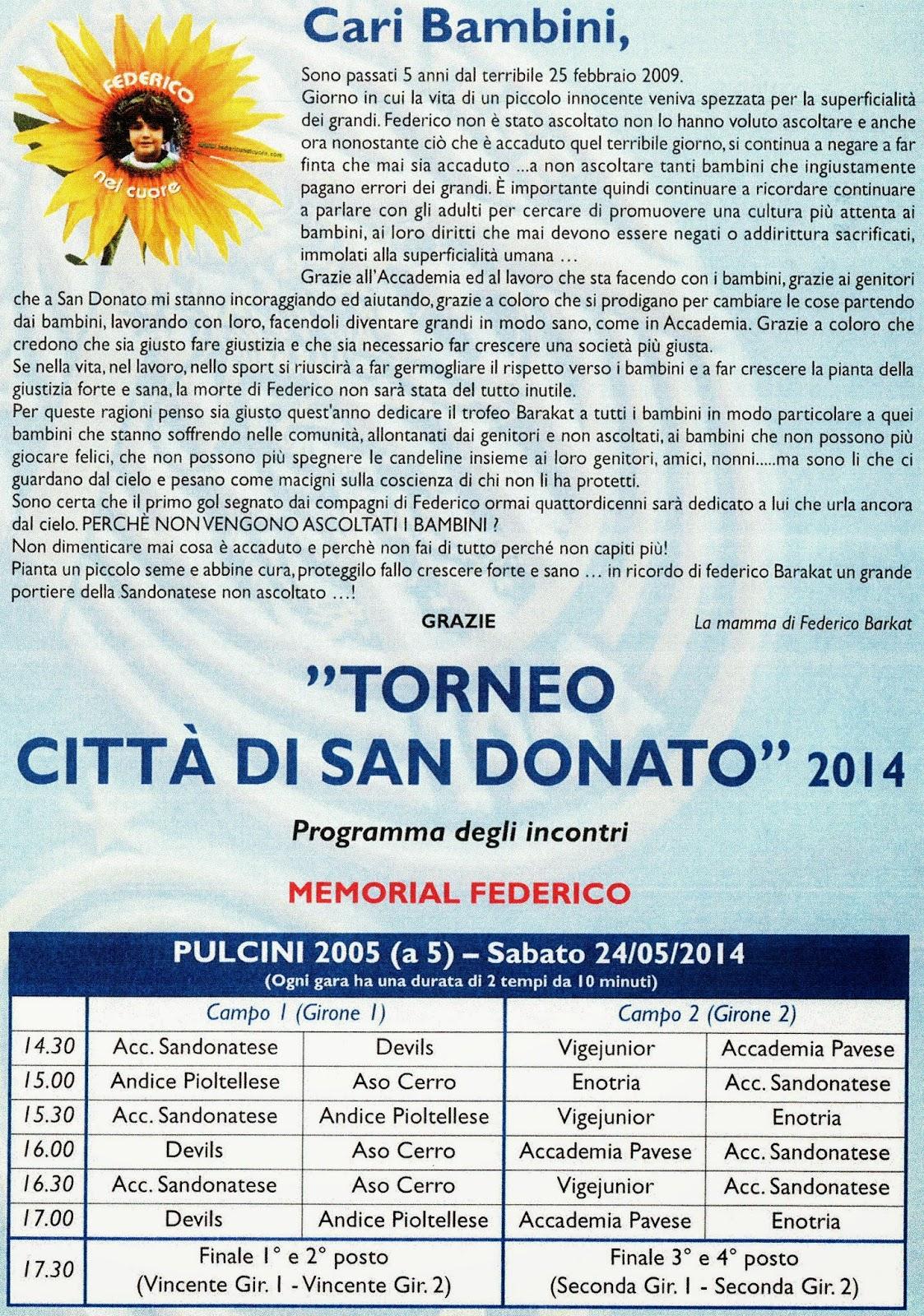 San Donato Calendario.Federico Nel Cuore Federico Barakat Eventi E Convegni In