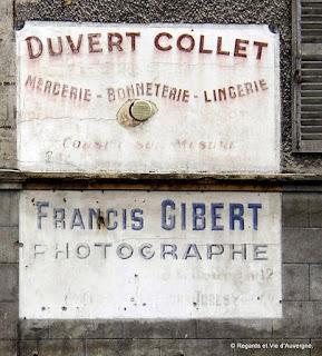 Publicités murales anciennes  en Auvergne