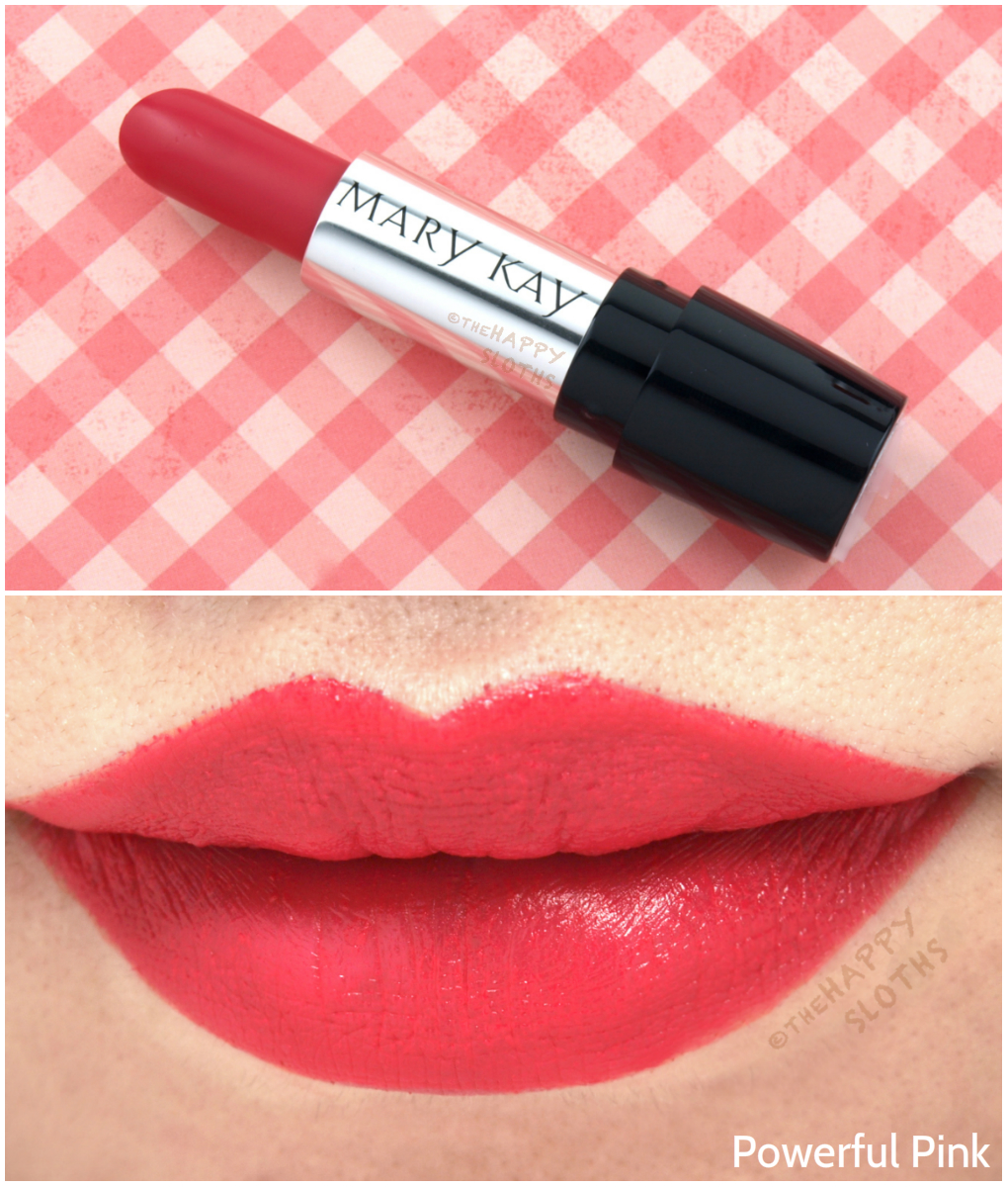 Mary Kay Fall 2016 Gel Semi Matte Lipsticks Review And Swatches Lipstik Lipstick In Powerful Pink
