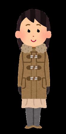 冬服を着た女性のイラスト