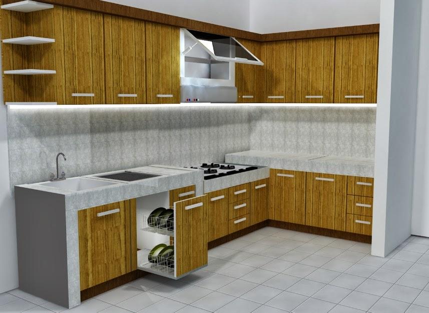 Membuat Meja Dapur Cor