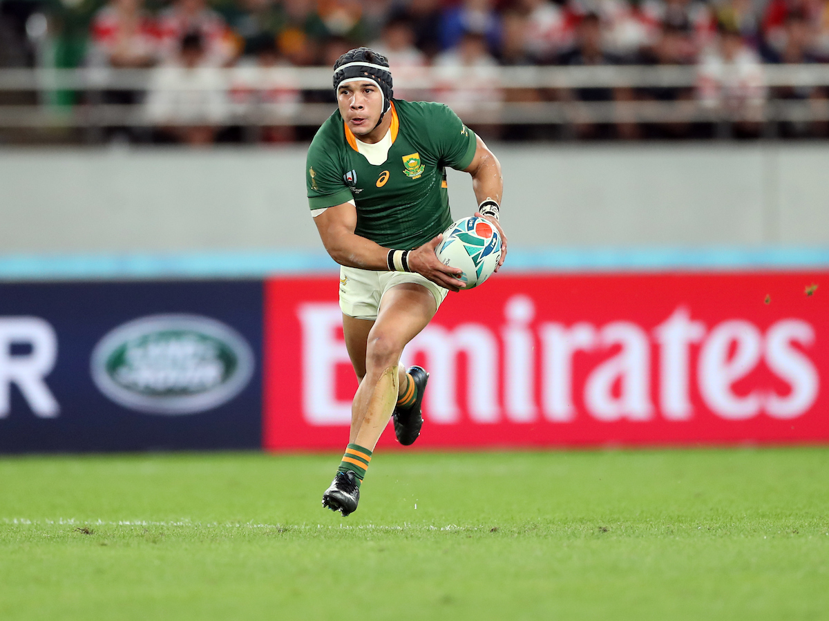 Cheslin Kolbe of South Africa during the Japan and South Africa Springbok Quarter-Final at the Tokyo Stadium,376-3 Nishimachi, Chofu, Tokyo 182-0032 Sunday, 20 October 2019.
