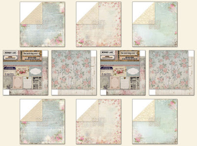 Scraps of Elegance February Garden Gala Kit Coordinating Paper Add On