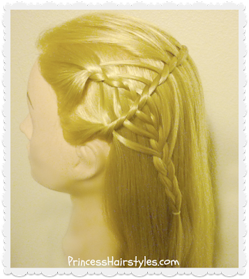 Cute and unique half up hairstyle. The cookie cutter waterfall braid.