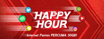 Hotlink Happy Hour Free 1GB High Speed Internet Data Every Day