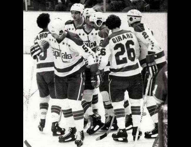 All Caps: Victory! (L-R) Charron, Green, Picard, Walter, Sirois, Girard and Lynch