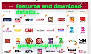 jio tv app features