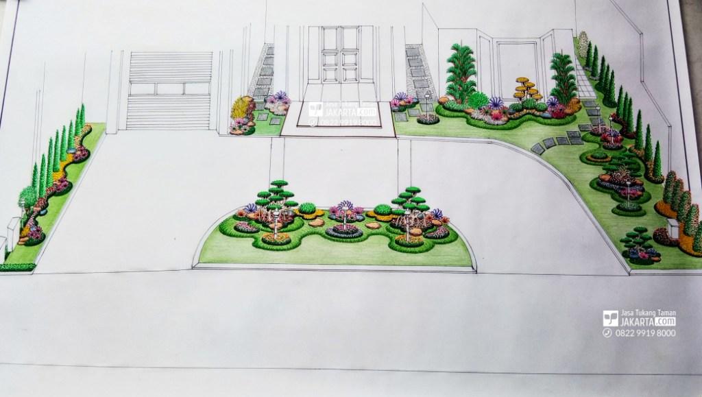 Desain Sketsa Taman  di alam sutera