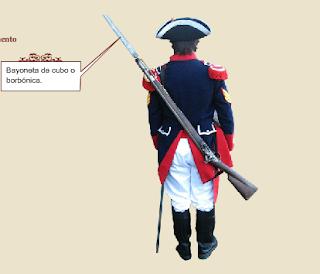 Blandengue (Bayoneta de cubo o borbónica)