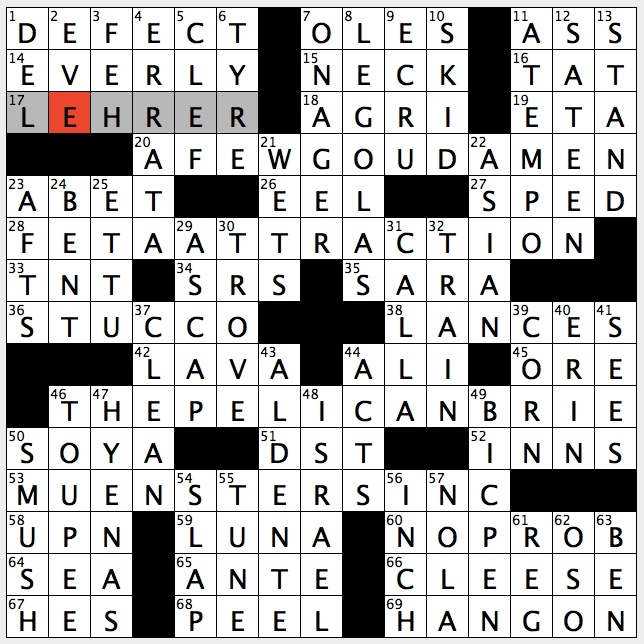Enjoy yourself crossword clue