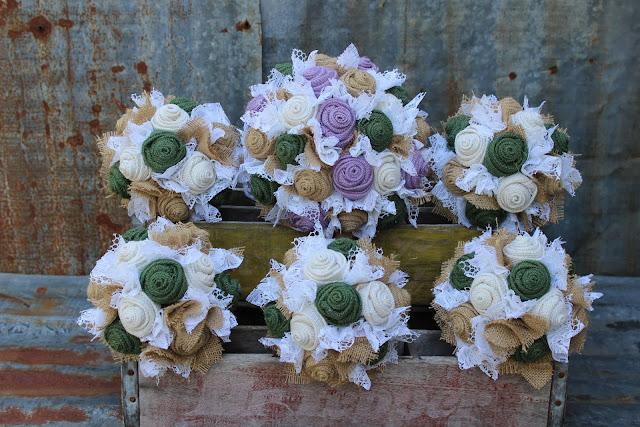 rustic burlap bouquets