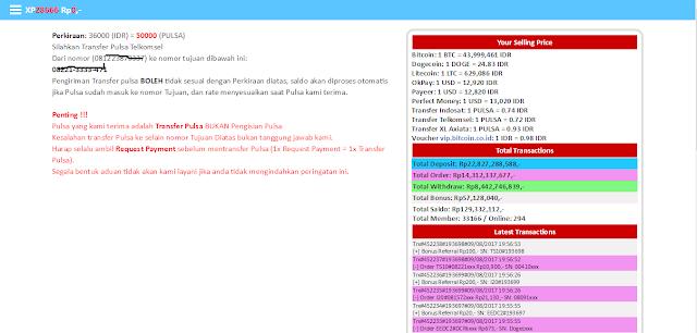 Cara deposit dengan pulsa gratis telkomsel di Xp Sindonesia