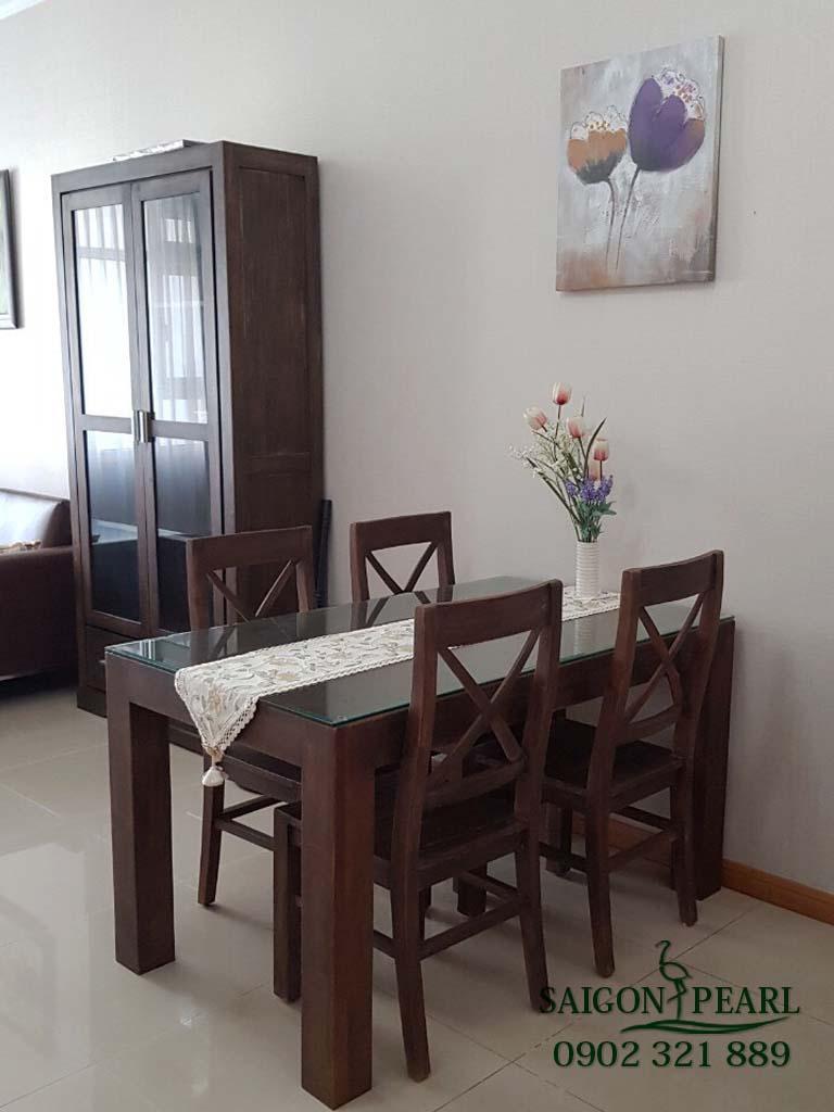 Topaz 1 Saigon Pearl cho thuê căn hộ 2 phòng ngủ - bàn ăn