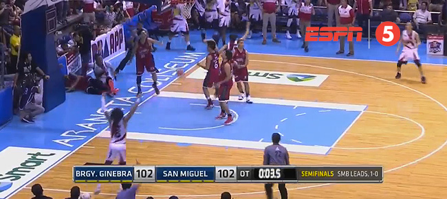 San Miguel def. Ginebra, 104-102 in OT (REPLAY VIDEO) Semis Game 2 / March 11