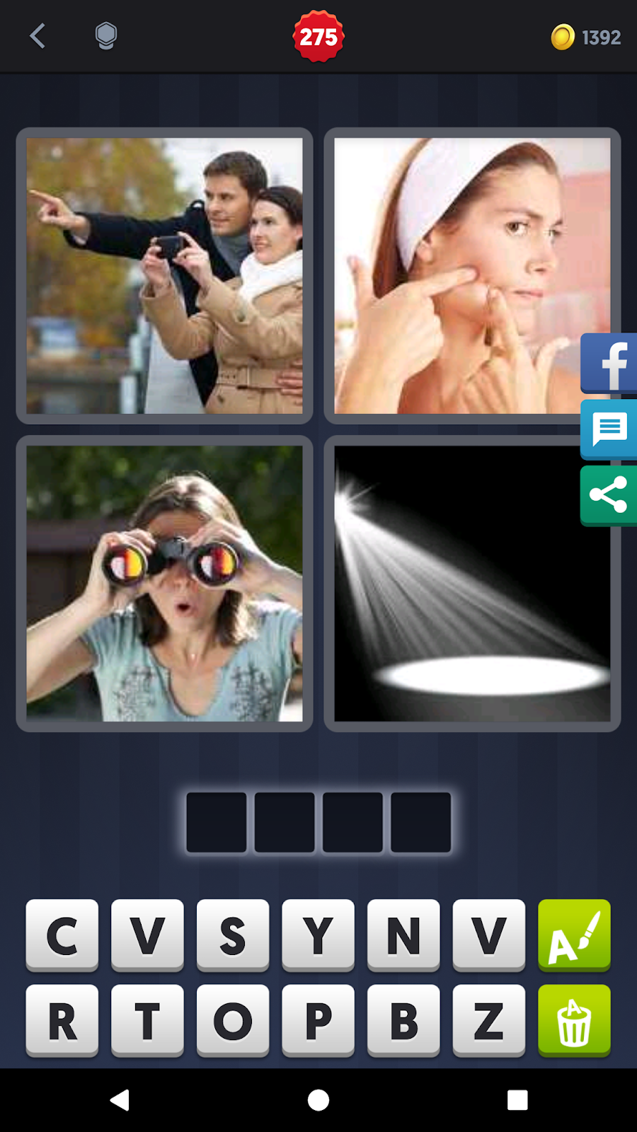 4 Pics 1 Word Answers Solutions Level 275 Spot