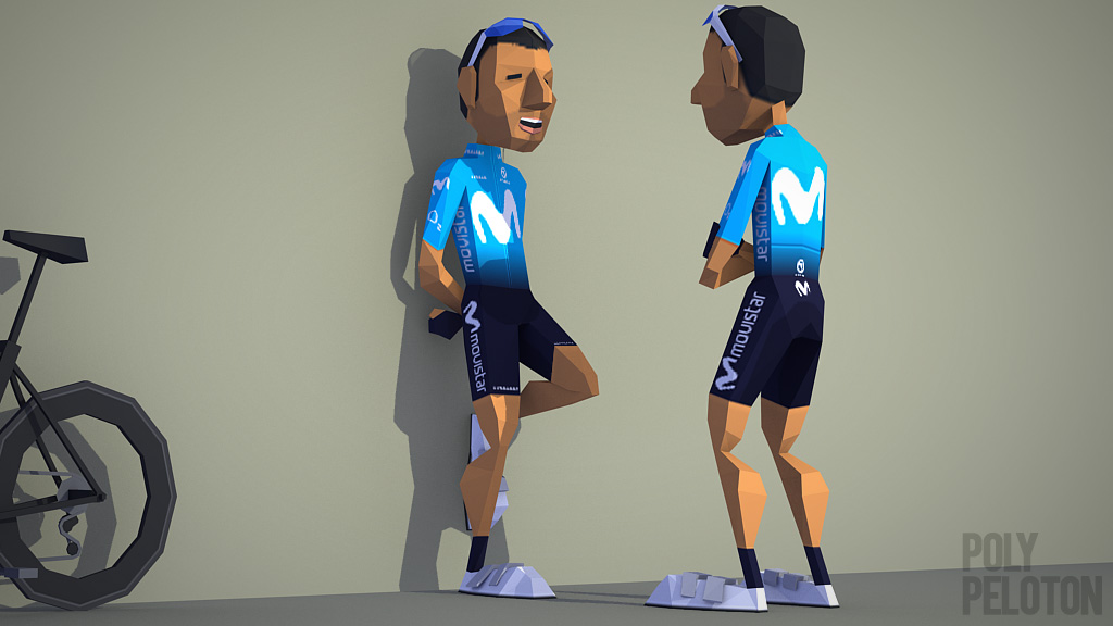 Poly Peloton  2018 Kit   Movistar 94dffca93