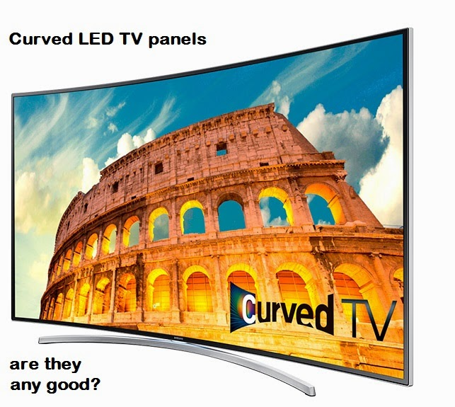 Curved LED TV panels