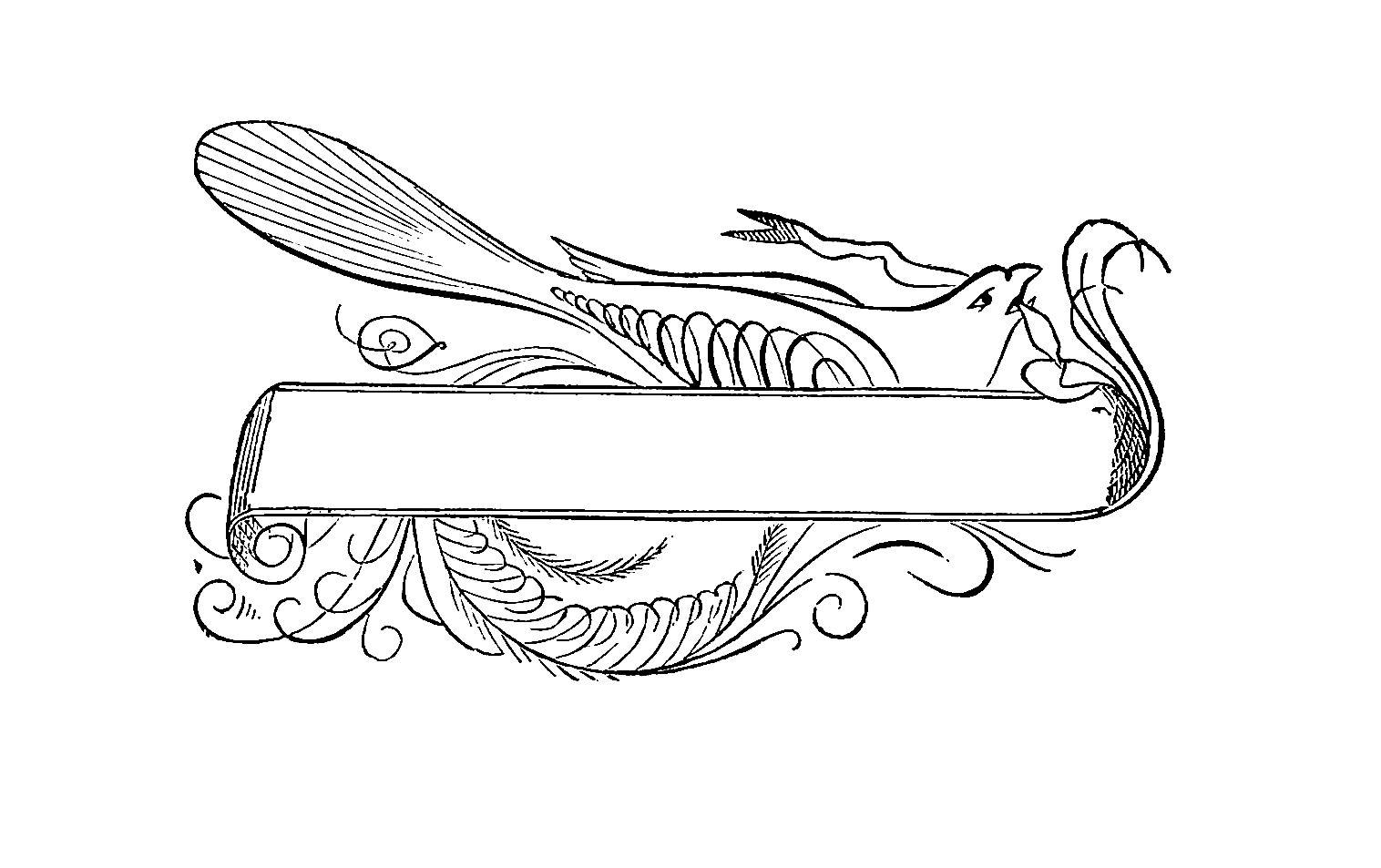 Digital Stamp Design Free Label Digital Stamp Vintage Bird And Scroll Design Printable Label