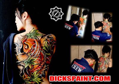 body painting koi fullback jakarta
