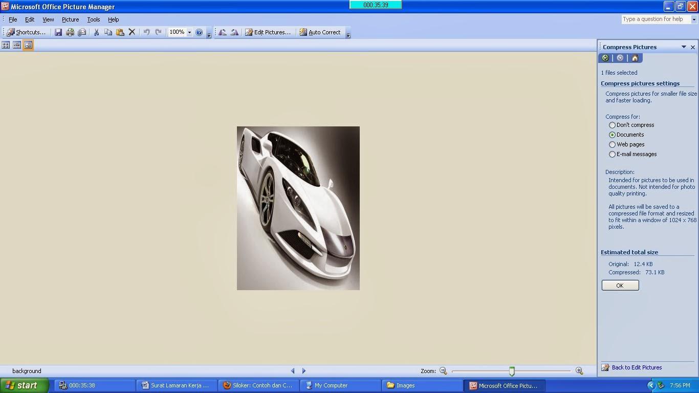 tips dan triks mengecilkan ukuran gambar untuk mengirim file lamaran via email