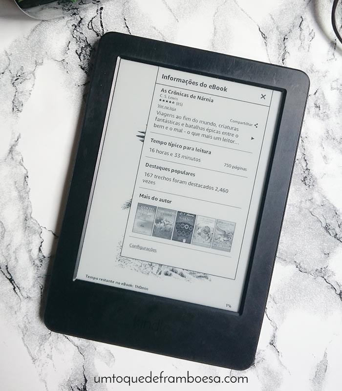 Resenha do leitor de e-books da Amazon, o Kindle