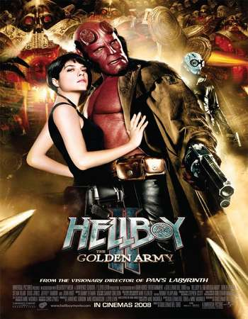 Poster Of Hellboy II The Golden Army 2008 Dual Audio 720p BRRip [Hindi - English] ESubs Free Download Watch Online Worldfree4u