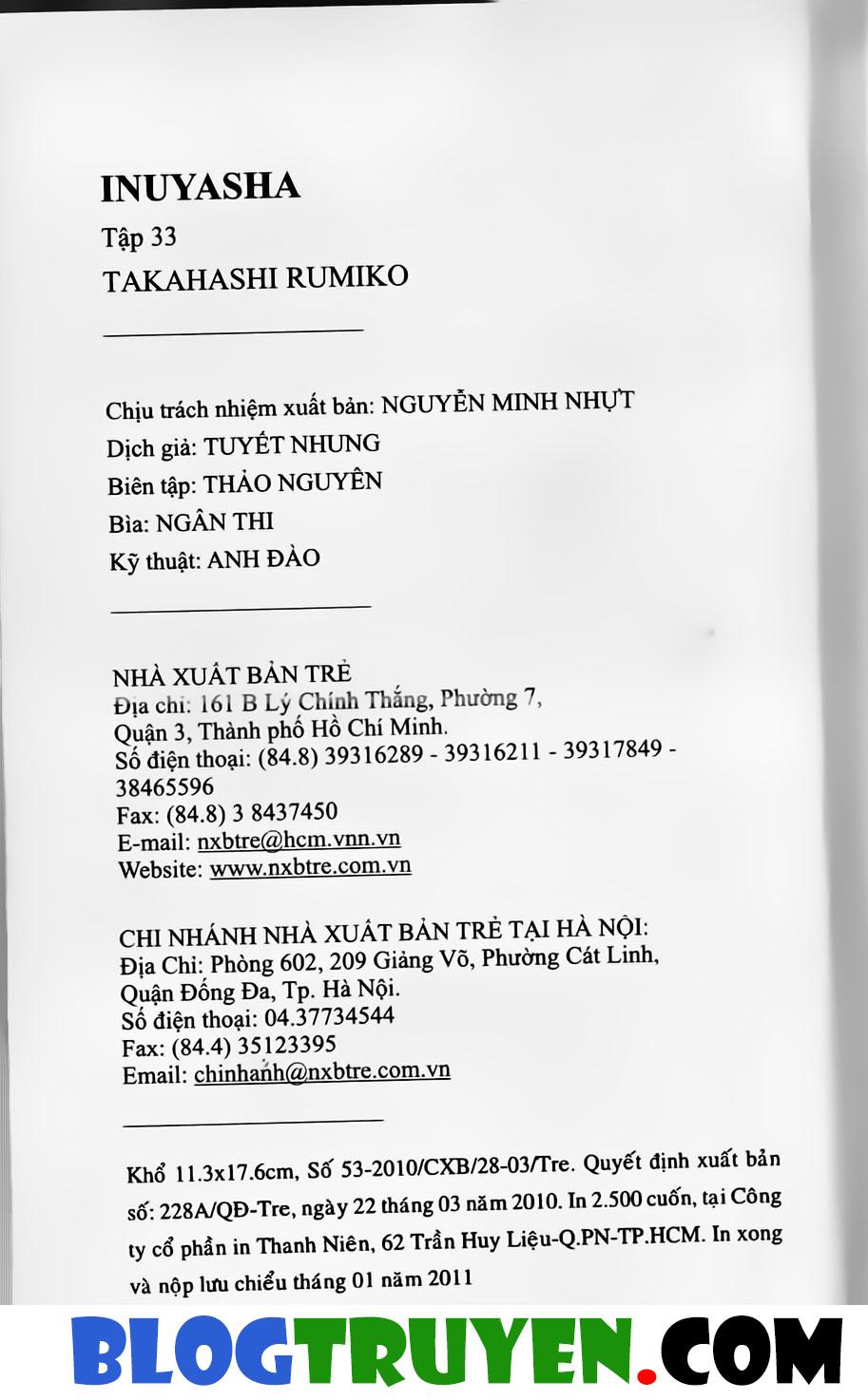 Inuyasha vol 33.10 trang 20