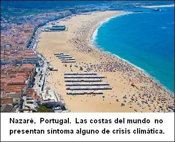 Nazaré, Portugal, sea level, nivel del mar, rise, aumento, costa, playa, fraude, scam, cambio, climático, calentamiento, global, warming, falsa, crisis, emergencia, climática, climate, change