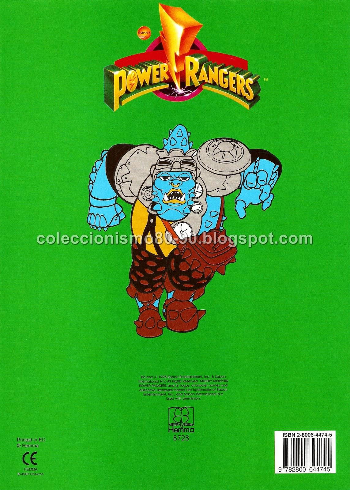 Coleccionismo 80-90: POWER RANGERS: LIBRO PARA COLOREAR
