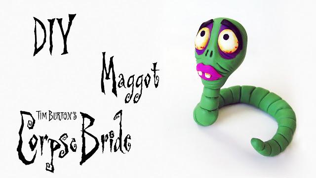 DIY: Como Fazer a Maggot de Noiva Cadáver - Corpse Bride
