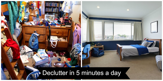 Decluttering of the house