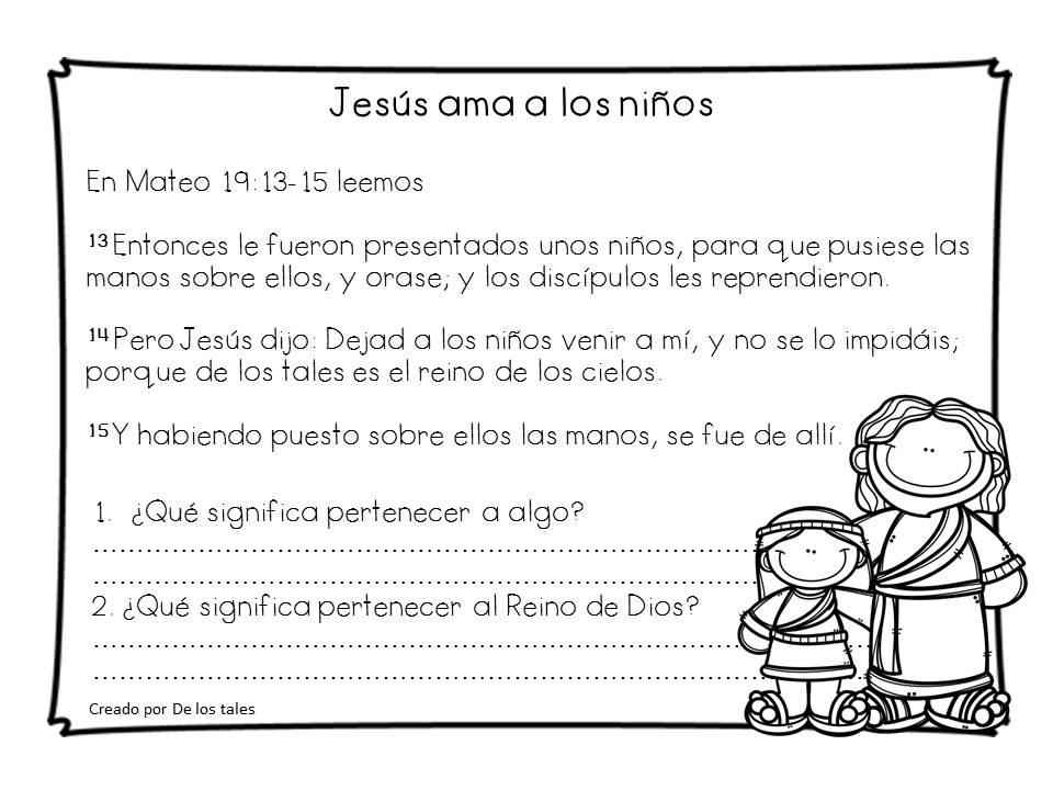 Jesús ama a los niños - De los tales