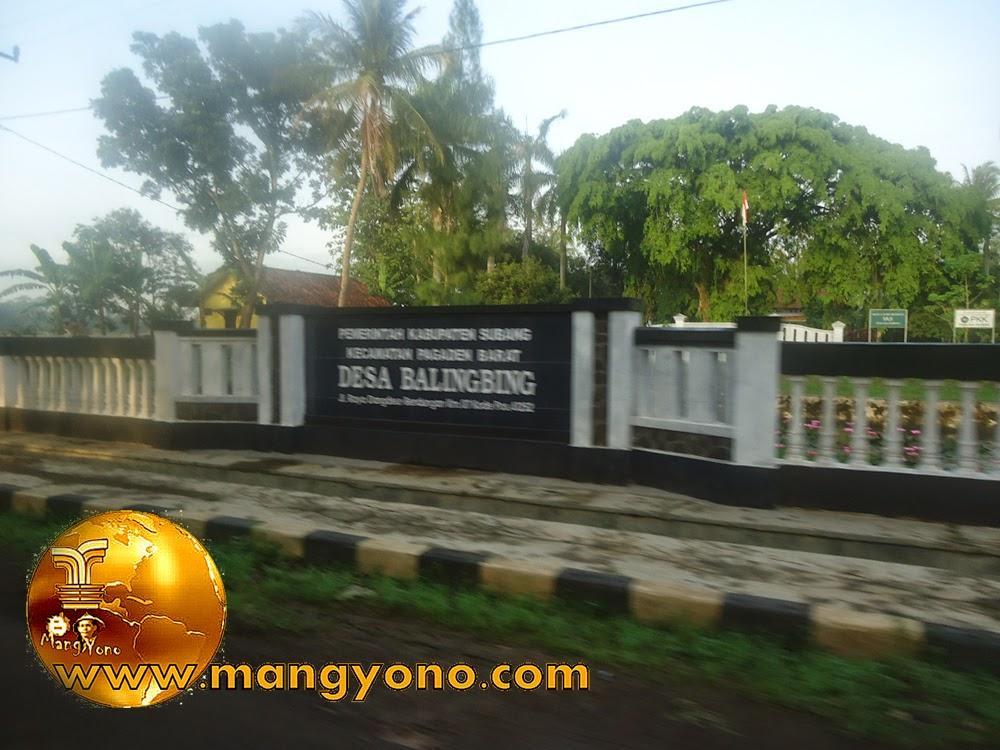 Kantor Desa Balingbing Jl. Raya Dangdeur - Bendungan - Kecamatan Pagaden Barat