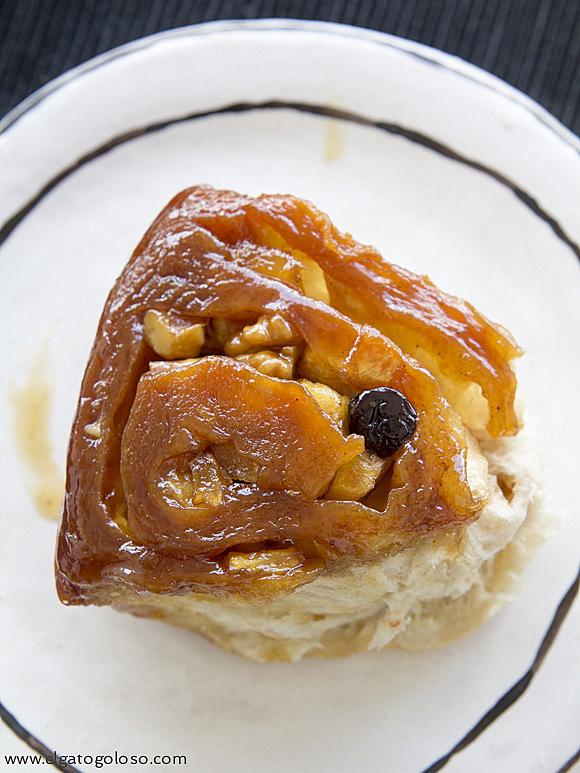 Rolls de Manzana, canela y caramelo