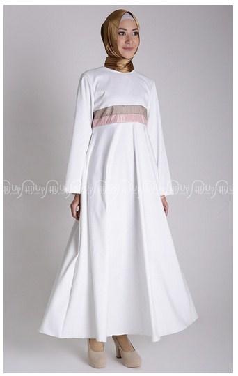 15 Pilihan Model Gamis Muslim Modern Untuk Ibu Menyusui Trend