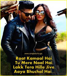 raat-kamaal-hai-song-ka-lyrics-guru-randhawa-tulsi