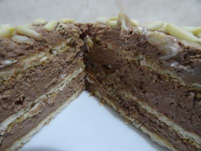 Ciasto bez pieczenia z musem czekoladowym