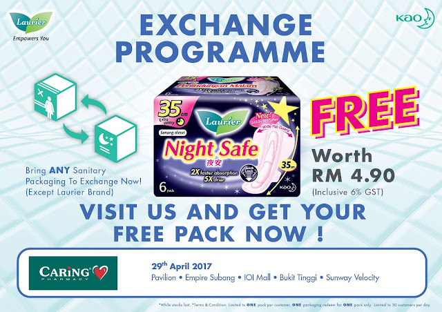 FREE Kaolaurier Night Safe 35cm Pack Exchange Programme Watsons Stores
