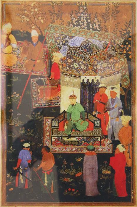 Mariage à Konigil, miniature du XVIe siècle, observatoire d'Ulugh Beg, Samarcande, © L. Gigout, 2012