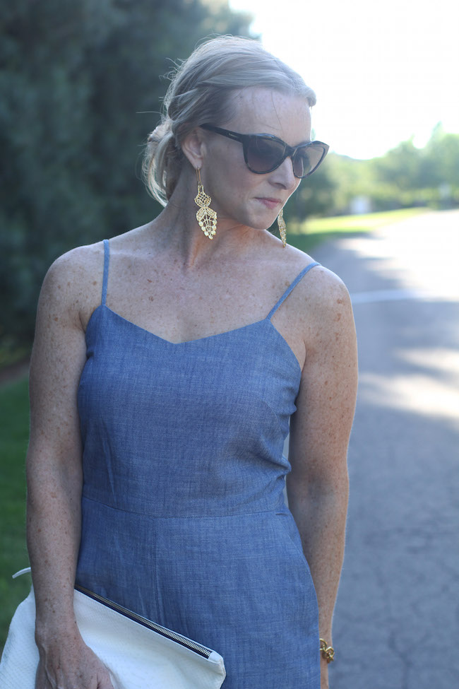 saint laurent sunglasses, wisteria earrings