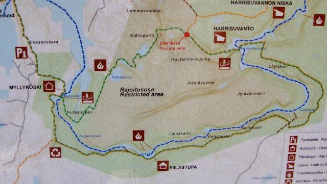 pieni karhunkierros kartta Iso Karhunkierros Kartta | Kartta