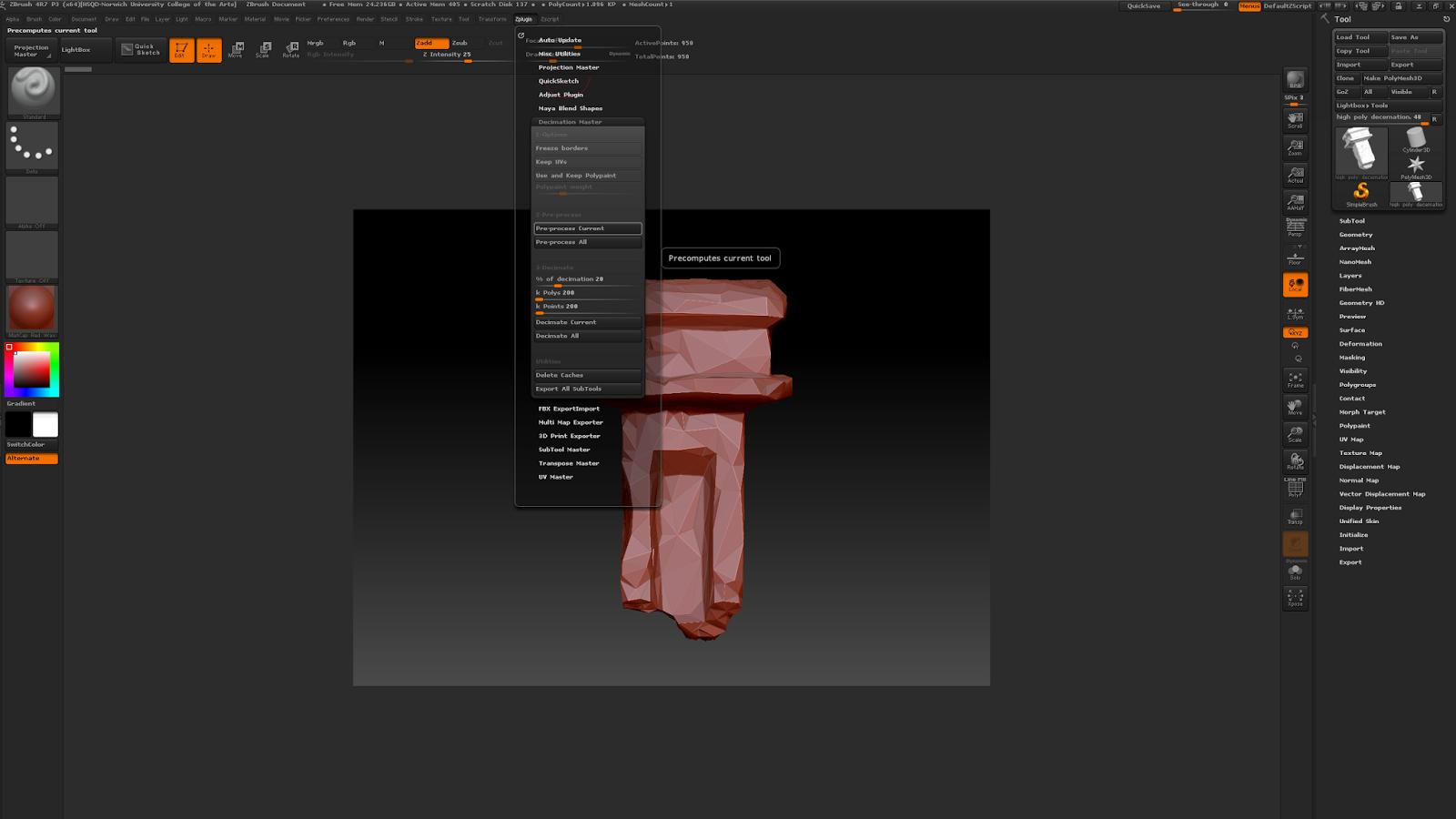 Year 1 Reflective Journal: 3D Damaged Pillar - Maya/ZBrush