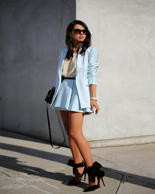outfit casual con minifalda colores pasteles tumblr de moda