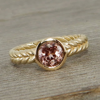 chatham champagne sapphire ring