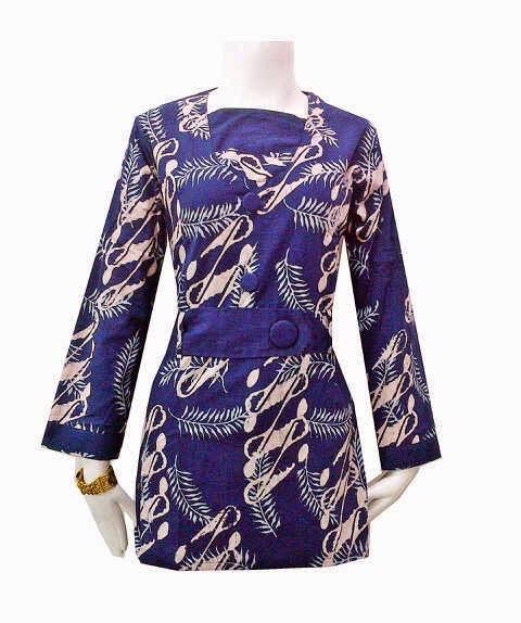 Sketsa Desain Baju Batik Muslim Wanita Terbaru: Model Baju Atasan Batik Cantik Untuk Para Wanita